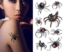 Waterproof Tattoo Sticker 3D Spider Tattoo Sticker Men 's Water Transfer Water Sticker 209