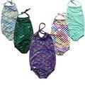 De moda Más Nuevos Lindas Niñas Niños Nadar Traje de Baño del traje de Baño Traje de Baño de La Sirena Mamelucos Edad 2-7años