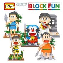 LOZ Baustein Spielzeug Doraemon Action Anime Figur Diamant Spielzeug Für Kinder Kinder Altersgruppen 14 + Offizielle Autorisierten Geschenk