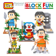 LOZ zabawka budowlana Doraemon figurka Anime figurka diamentowa zabawka dla dzieci dzieci w wieku 14 + oficjalny autoryzowany prezent