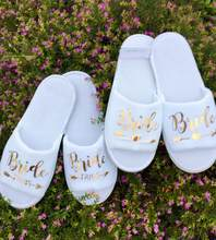 d335c10634d personalize gold Bride slippers bride-tribe bridesmaid maid-of-honour bridal -party spa day hen night wedding party favors