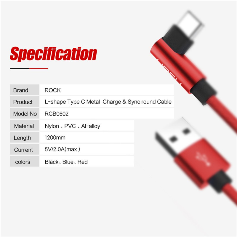 rock l shape usb type c cable phone round fast charging data cable rh aliexpress com