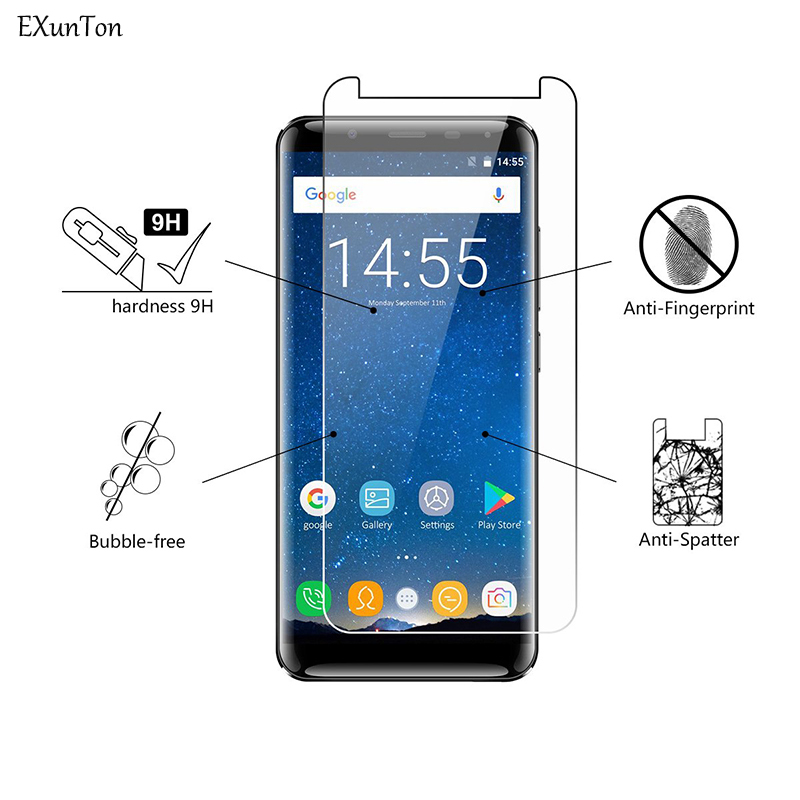 EXUNTON 2.5D 2PCS Tempered Glass For <font><b>OUKITEL</b></font> U22 <font><b>K8000</b></font> MIX2 C8 K6 U18 K3 K8 C11 Pro <font><b>Screen</b></font> Protector HD Protective Film image