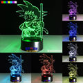 2016 Hot dragonball 7 colors 3D LED Night Light All Colors Flash In Turn and gift to friend Creative gifts