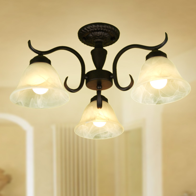 ФОТО Ceiling light fashion iron 3 brief restaurant lights lamps xd3001