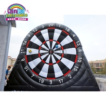 Best price inflatable foot dart game, 5m height soccer board for sale