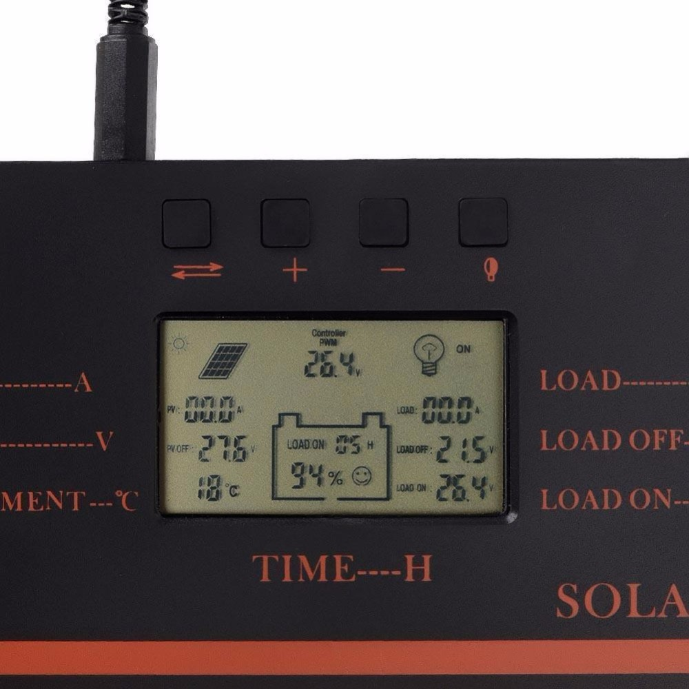 80A LCD PWM Solar Battery Regulator Charge Discharge Controller 12V 24V Hot 20a duo battery solar regulator solar charge controller 12 24v for two battery