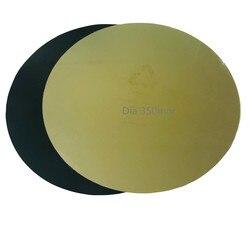 Novo diâmetro energético 350mm circular redonda flex primavera aço pei impressão cama com base de atualização para delta kossel 3d impressora cama aquecida