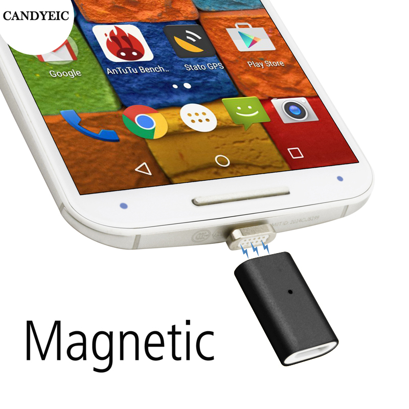 CANDYEIC Magnetic Micro USB Adapter For Android Moto G X Nexus Cable Charger Magnetic For Samsung HTC Sony OnePlus XIAOMI Cable