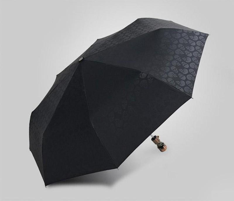 Personality Skull Head Full Automatic Umbrella Luxury Business Male Umbrella Fashion Black Coating Women Rain Sun 3 Folding Umbrella16
