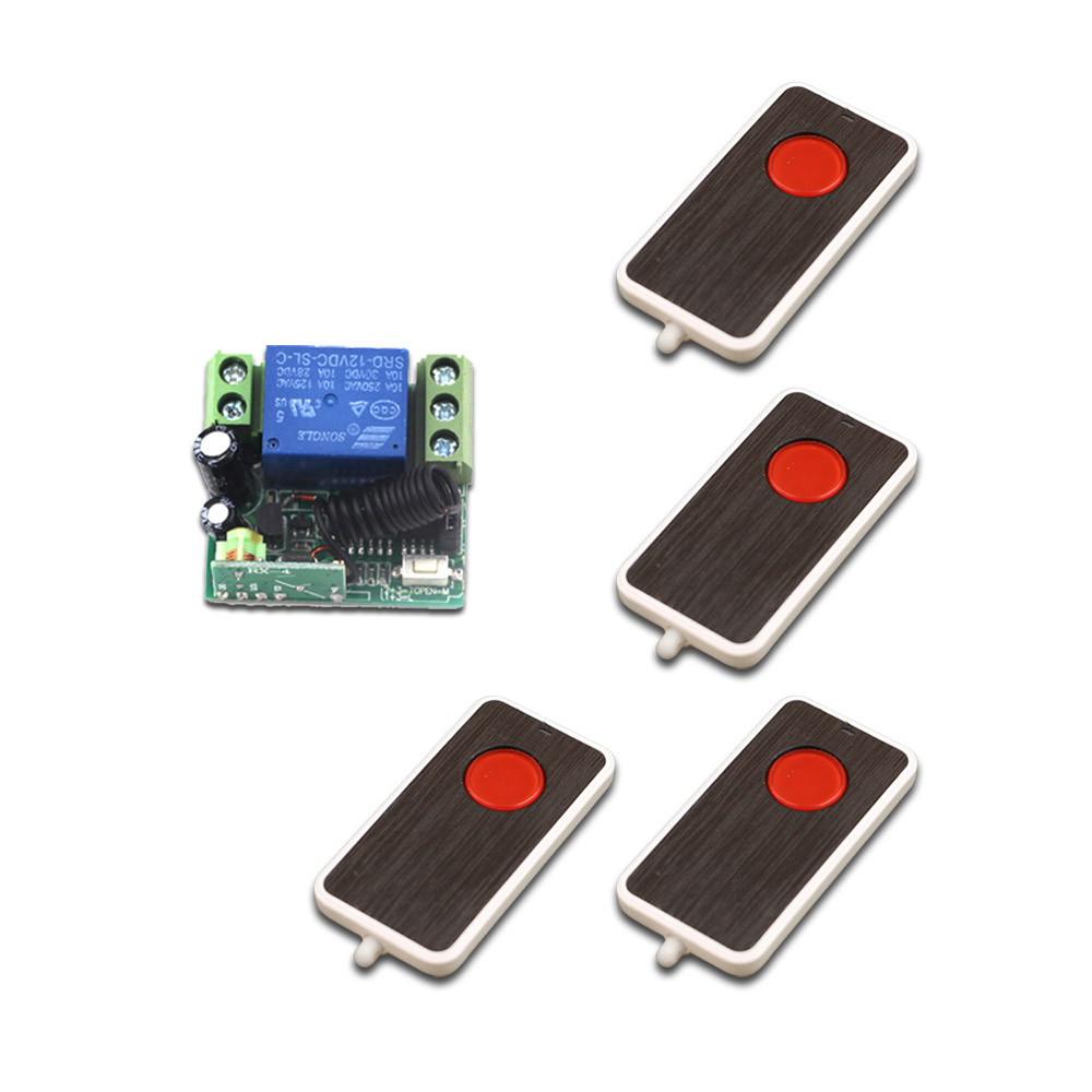 DC 12V Wireless Remote Control Switch System 10A RF Mini Relay Receiver 1CH Remote Control Switch 315/433MHz купить