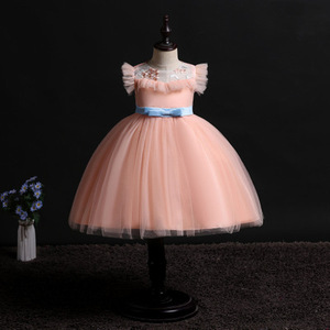 Image 3 - 2019 New Children Birthday Tutu Dress For baby Girls Kids Princess Party Clothes Wedding Holiday Wear Ceremony Evening Dress