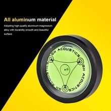 VBESTLIFE Aluminum LP Disc Stabilizer Turntable Level Vinyl Record Vibration Balanced Phonograp Spirit Level Black Gold Silver