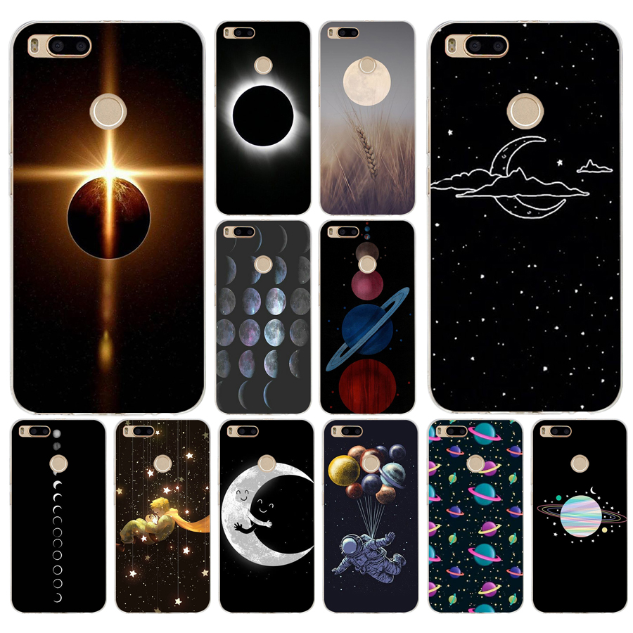 Honest Izyeky Case For Xiaomi Mi 6x Moon Space Animal Bear Cat Silicone Phone Back Cover For Xiaomi Mi A2 6x Coque Phone Bags & Cases