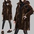 TNLNZHYN Women Winter Coat Casual Big yards White Duck Down Jacket Fashion Hooded Velvet Down Jacket Medium long Slim Coat AB618