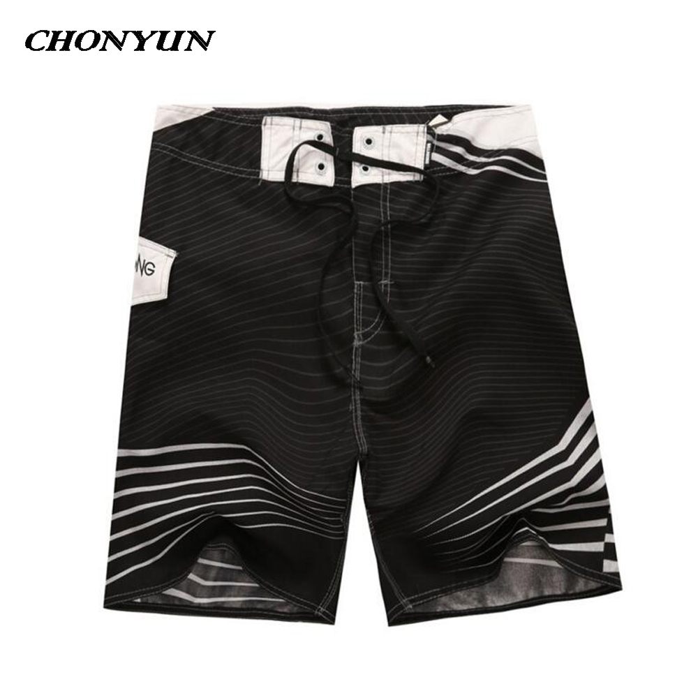 2018 New Men's Quick Dry Mens   Board     Shorts   Surf Beach   Shorts   For Men Surfing Swimsuits Trunks Swimwear Briefs   Short   Bermuda