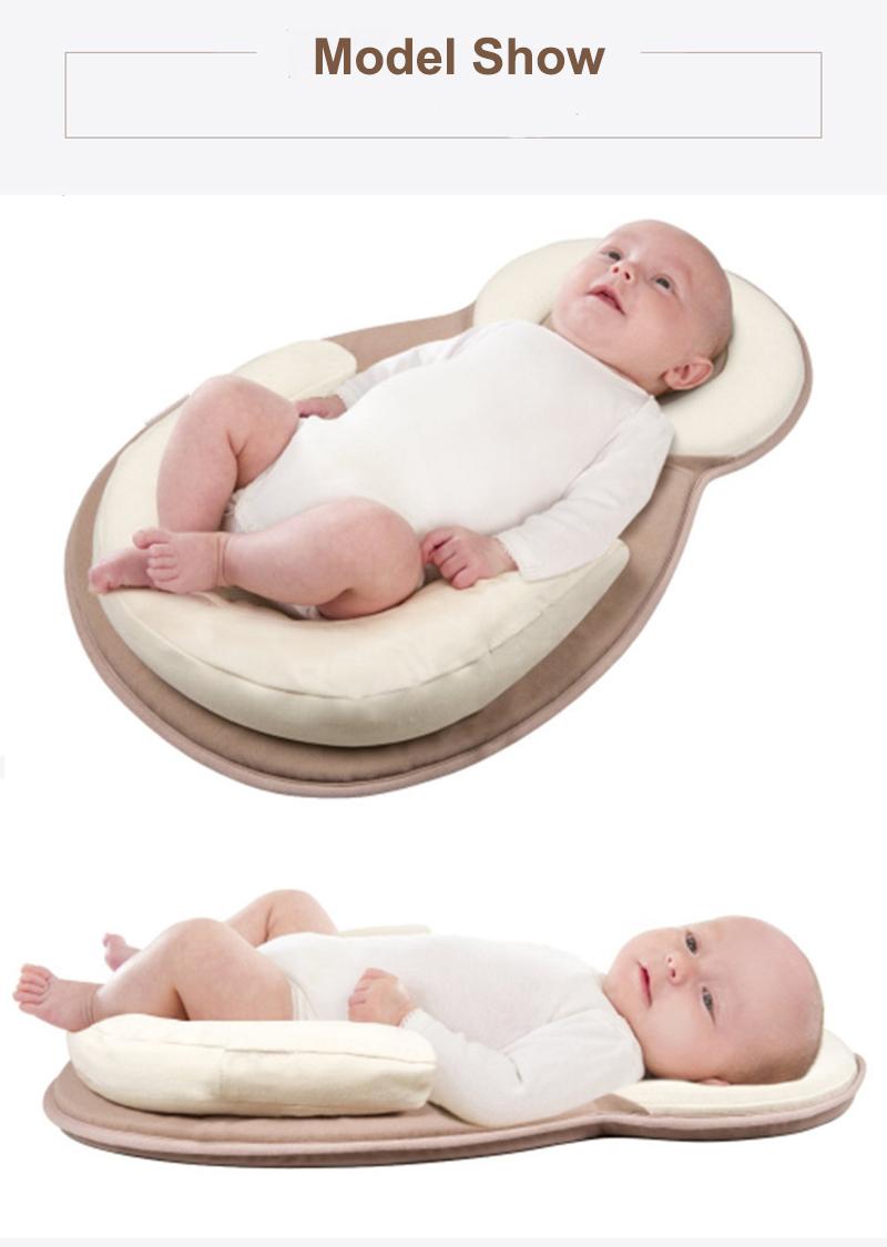 หมอนสำหรับทารกแรกเกิด Sleep ทารกตำแหน่งทารกแรกเกิด หมอนป้องกันศีรษะแบน 15