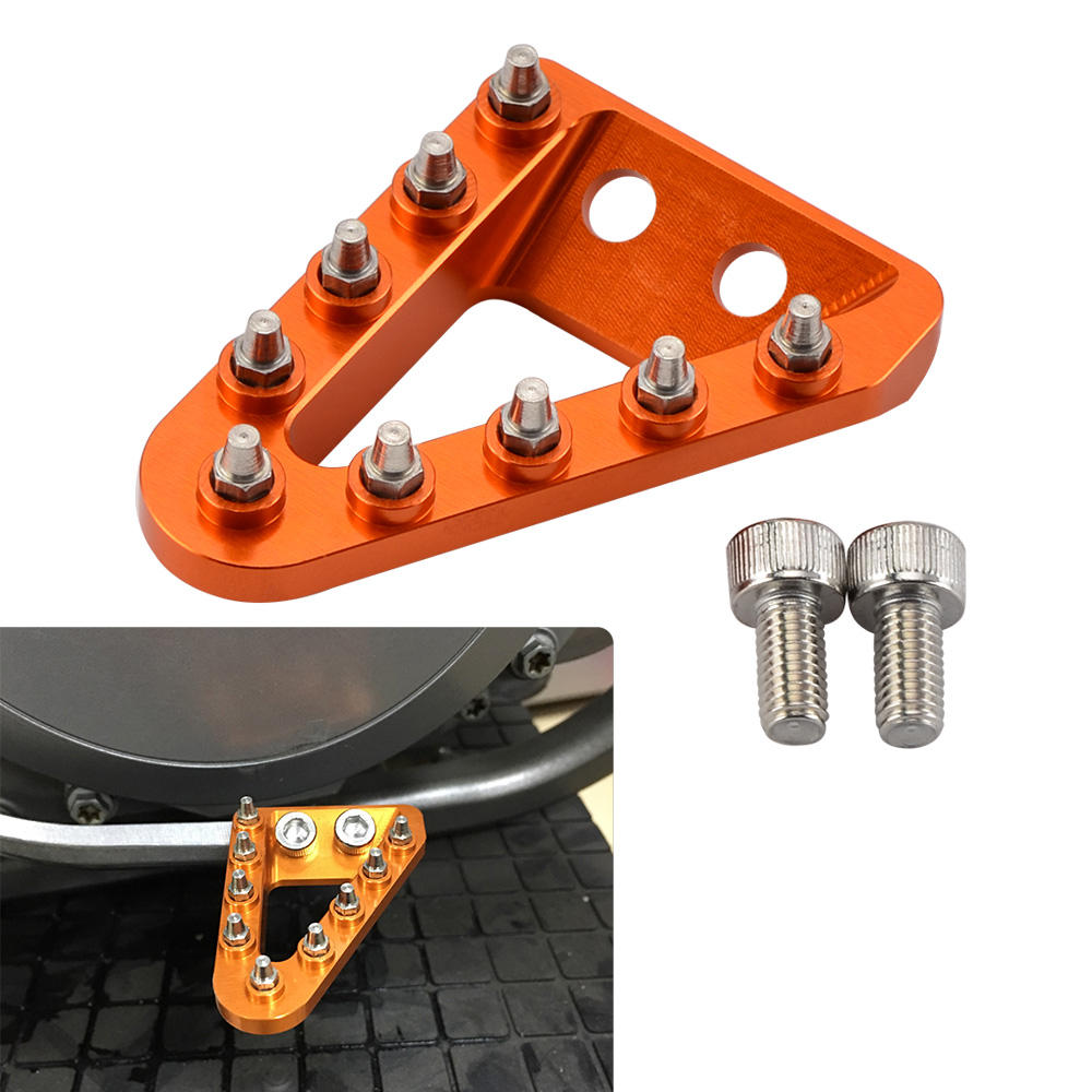 Rear Brake Pedal Lever Step Tip For KTM 125 150 200 250 300 350 400 450 500 SX SXF EXC EXCF XC XCF XCW XCFW Husqvarna 2017-2019 right left sides wp fork leg shoe guard protector cover for ktm 125 200 250 300 350 400 450 500 exc sx sxf xc xcf excf excw xcfw