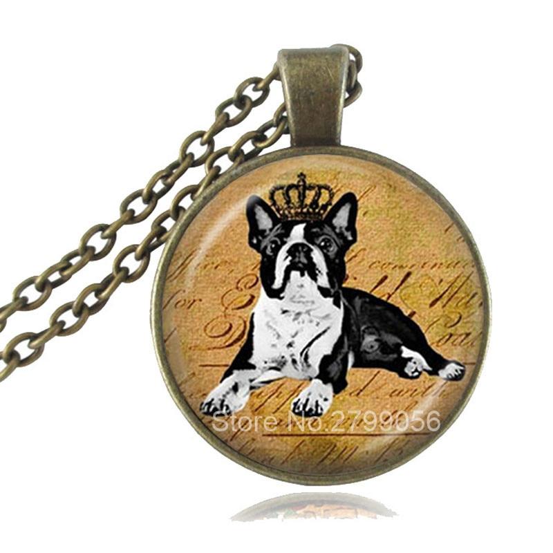 Best buy ) }}Handmade Boston Terrier with Crown Pendant Dog