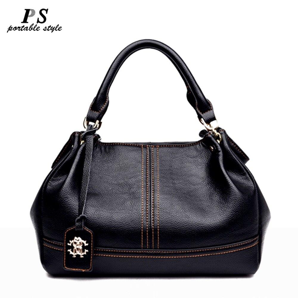 Sac à main noir sac à bandoulière en cuir véritable pour femme sacoche pour femme sacs messenger sac fourre-tout en cuir véritable pour femme