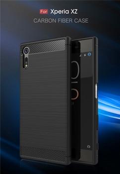 For Sony Xperia XZ F8331 F8332 Case Carbon Fiber Silicone TPU Skin Soft Back Cover Phone Case for Sony Xperia XZ F8332 F8331 goowiiz красный sony xperia xz premium