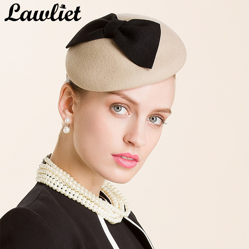 7b9c74a0 Aliexpress.com : Buy New Camel Bow Ladies Beret Women Felt Wool Fascinators  Cocktail Wedding Church Pillbox Hat Party Wedding A317 from Reliable wool  ...