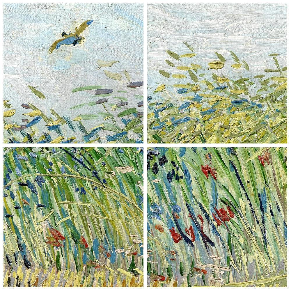 Vincent Van Gogh Impressionist Green Field Landscape Famous Large A3 Poster Prints Original Canvas Oil Paintings Wall Art Gifts