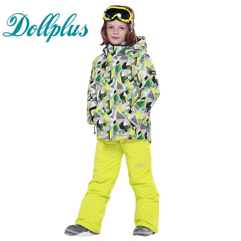 Russian Winter Children Clothing Sets 6-16 Ages Boys Waterproof Windproof Ski Jackets+Bib Pants 2pcs Boys Ski Set russian traditions russian cuisine russian folklore 2 dvd