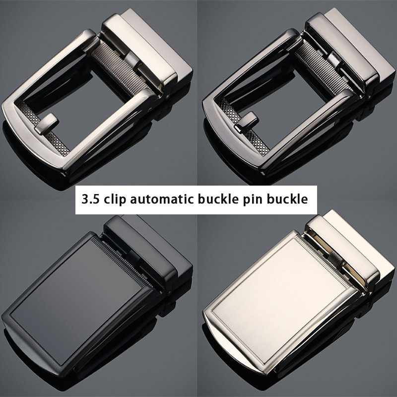 High Quality Belt Buckle Head Men's Metal Business 3.5cm Automatic Buckles Leather Waistband Buckle No Belt Accessories Gift New