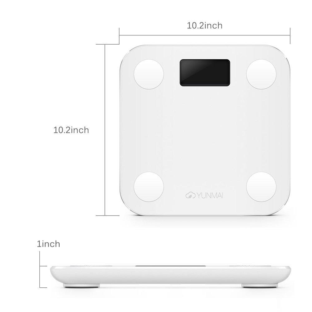 Bmi bathroom scales - Aliexpress Com Buy Yunmai Mini Smart Weight Body Scale Digital Balance Bmi Bluetooth Support Ios Android Bathroom Scale International Version From