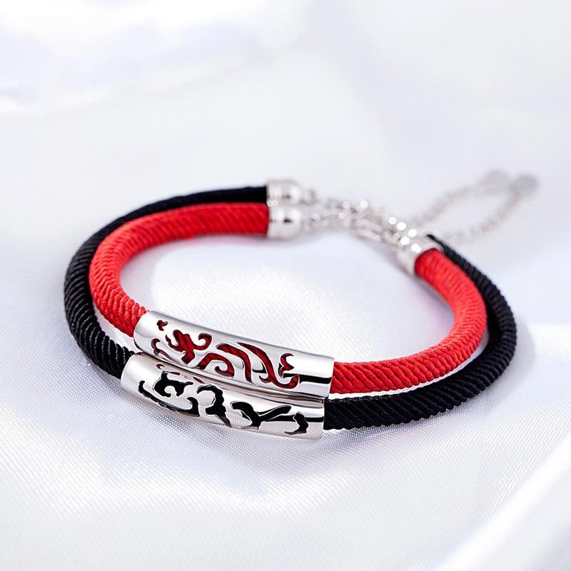Flyleaf Silver 925 Jewelry Bracelets For Women Men Jewelry Student Loves 39 Gift Bracelets amp Bangles Femme Couple Bracelet Weaving in Charm Bracelets from Jewelry amp Accessories