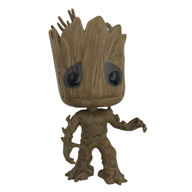 Kids Toys 10cm Funko Pop Groot Tree man Guardians of the Galaxy Anime  Action Figure Collection Model PVC Toys for Children Gift  10cm funko pop guardians of the galaxy groot pvc action anime figure doll shake bobble head groot tree man kids toys