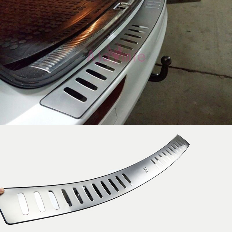 Stainless Steel Car Styling Rear Bumper Trunk Door Sill Trim 2009 2010 2011 2012 2013 2014 2015 2016 For Audi Q5 Accessories new rear bumper protector door sill scuff plate for audi q5 2010 2011 2012 2013 2014 2015 [qp35]