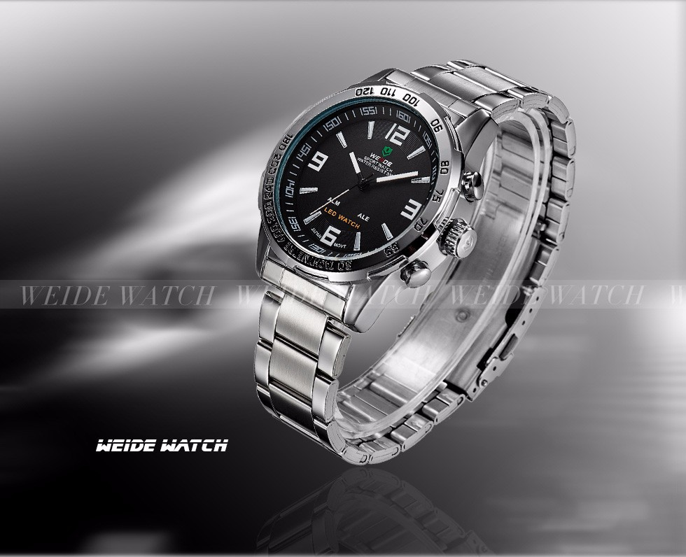Topdudes.com - WEIDE Digital Waterproof Military Relogio Masculino Quartz Wristwatch