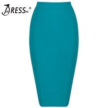 Indressme Модные Узкие по колено повязки партии Для женщин, пикантные офисные 8 цветов Империя леди юбка faldas Saia Новинка 2017 года