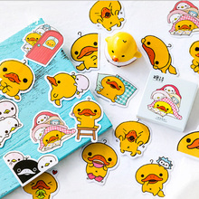 45Pcs/box Refueling duck Mini Decoration Paper Sticker DIY Scrapbook Notebook Album Sticker Stationery Kawaii Girl Stickers 50pcs box travel building decoration stickers mini paper decoration diy scrapbook notebook album sticker stationery girl sticke
