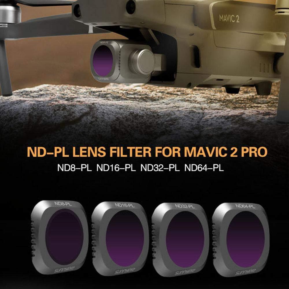 ND8-PL ND16-PL ND32-PL ND64-PL Filtre D'objectif pour DJI MAVIC 2 PRO Drone Caméra ND PL Filtre 4 pièces/ensemble