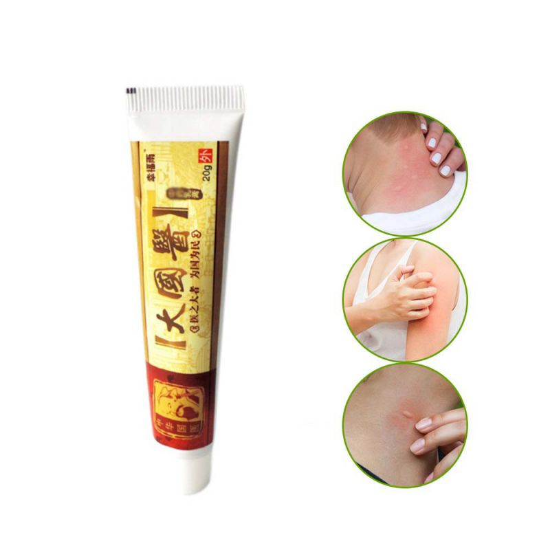 20g Herbal Antibacterial Skin Itch Cream Skin Allergy Dermatitis And Eczema Cream Chinese Herbal Ointment Fungus Treatment Itchi image