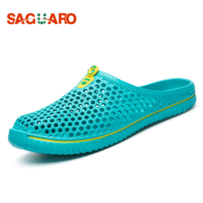 2018 Summer Slippers Men Fashion Hollow Out Breathable Sandals Unisex Lovers Casual Beach Shoes Flat Flip Flops zapatillas suihyung design new women and men summer flat shoes hit color breathable hollow beach slippers flips non slip unisex sandals