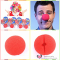 Free shipping 1pc Clown Nose Foam Funny Cosplay Prank Joke Gag Practical Trick Novelty toys Halloween Birthday party supply gift