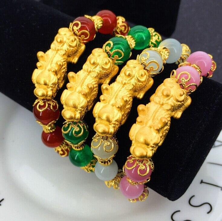 Fashion Summer Design 24K Gold Bracelet Sand Gold Amulet Pix