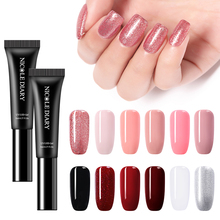 NICOLE DIARY 3 In 1  Rose Gold Nail Gel Polish No Need Base Top Coat LED Lamp One Step Manicure Art Lacquer Glitter