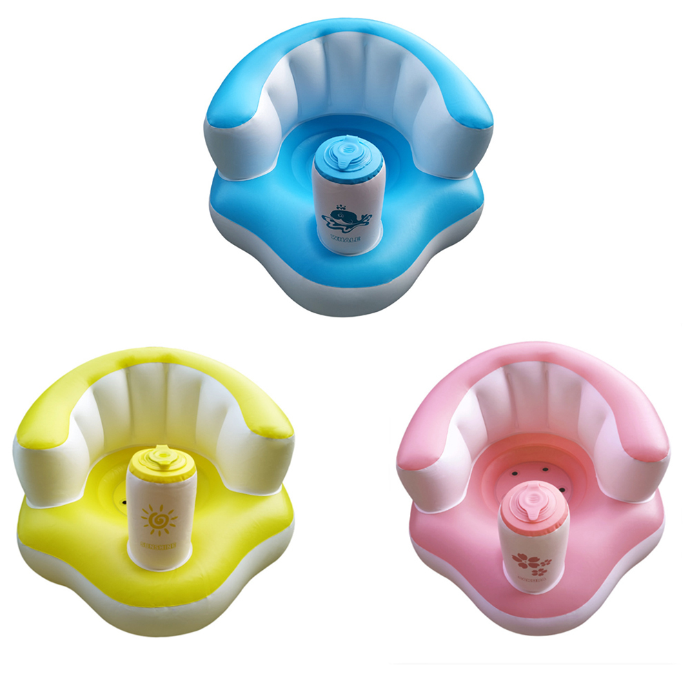 Baby Learn Portable Multifunctional Sofa Boy Seat Inflatable Kids Chair Bathroom Seat
