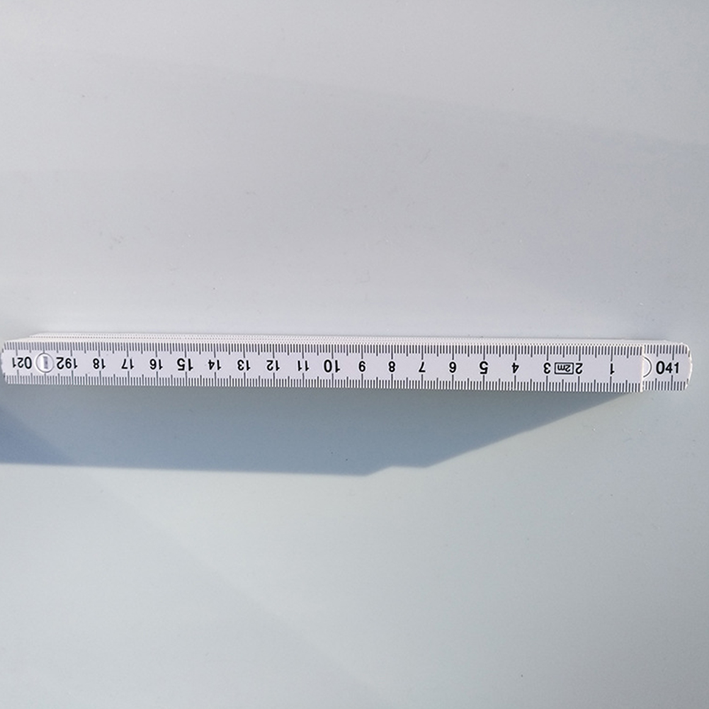 2m Measuring ABS Accurate Portable Professional Metric Inch Folding Double Scale Durable Practical Ruler Woodworking