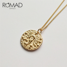 ROMAD 925 Sterling Sliver Bird Virgin Constellation Choker Necklaces Baroque Coin Disc Pendant Choker Layered Chain Necklaces R4 peri sbox 925 sterling sliver face pendant chokers necklace minimalist coin disc choker necklaces chic layered chain necklaces