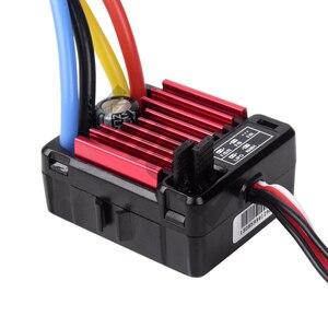Image 2 - Zdalnie sterowany model samochodu QUICRUN 1060 60A wodoodporna szczotkowana prędkość esc kontroler z 6 V/3A BEC dla 1:10 części do zdalnie sterowanego samochodu