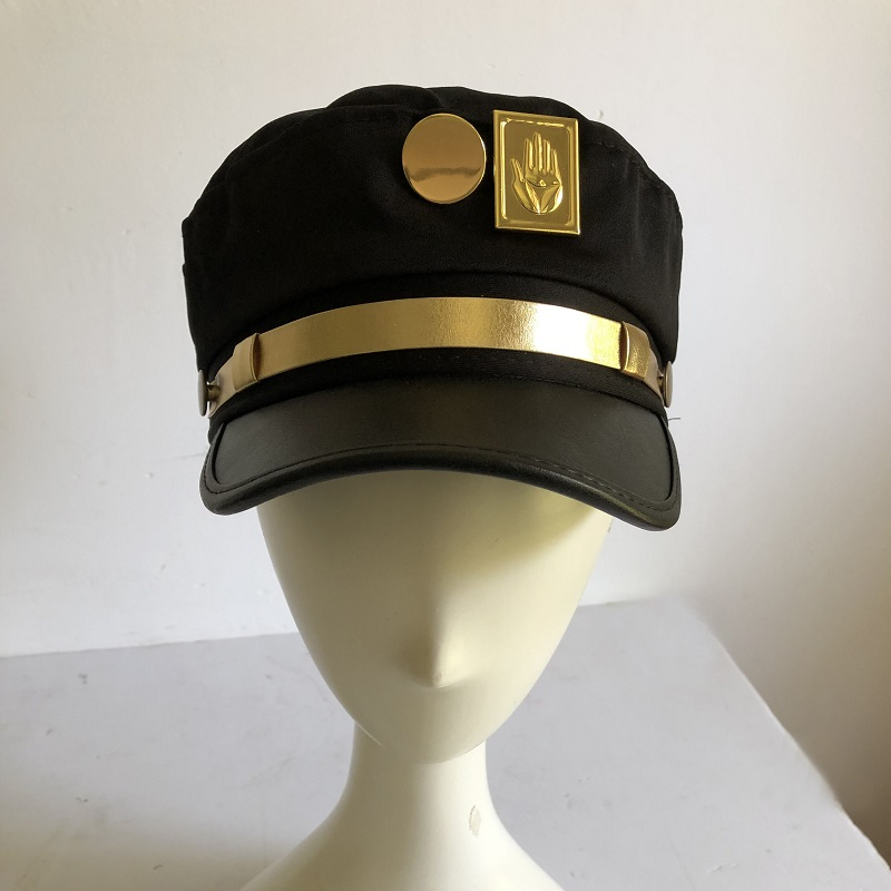 Joseph Hat Badges Jojo-Caps Bizarre Adventure Jotaro Kujo Animation Army Military Around-Props title=
