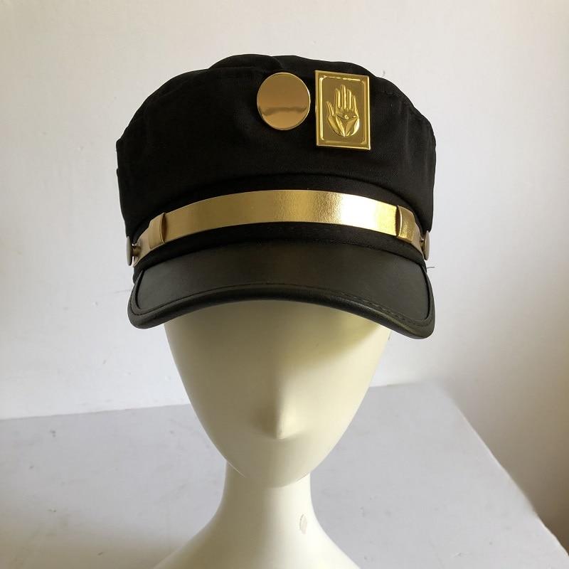 Anime JoJo's Bizarre Adventure Cosplay Cap Jotaro Kujo Joseph Hat Army Military JOJO Caps Hats Badges Animation Around Props