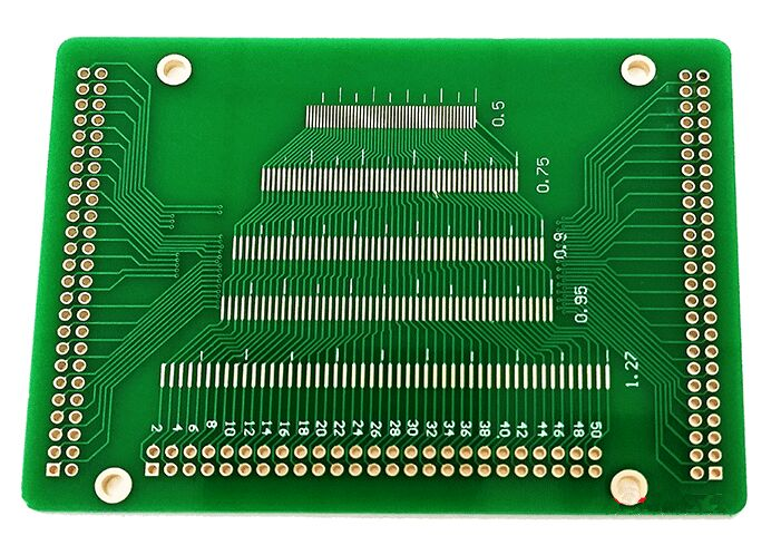 Free shipping 5pc Universal PCB board 50P 0.5 0.6 0.7 0.8 0.85 0.75 0.9 1.27 pitch LCM TFT LCD Transfer test board