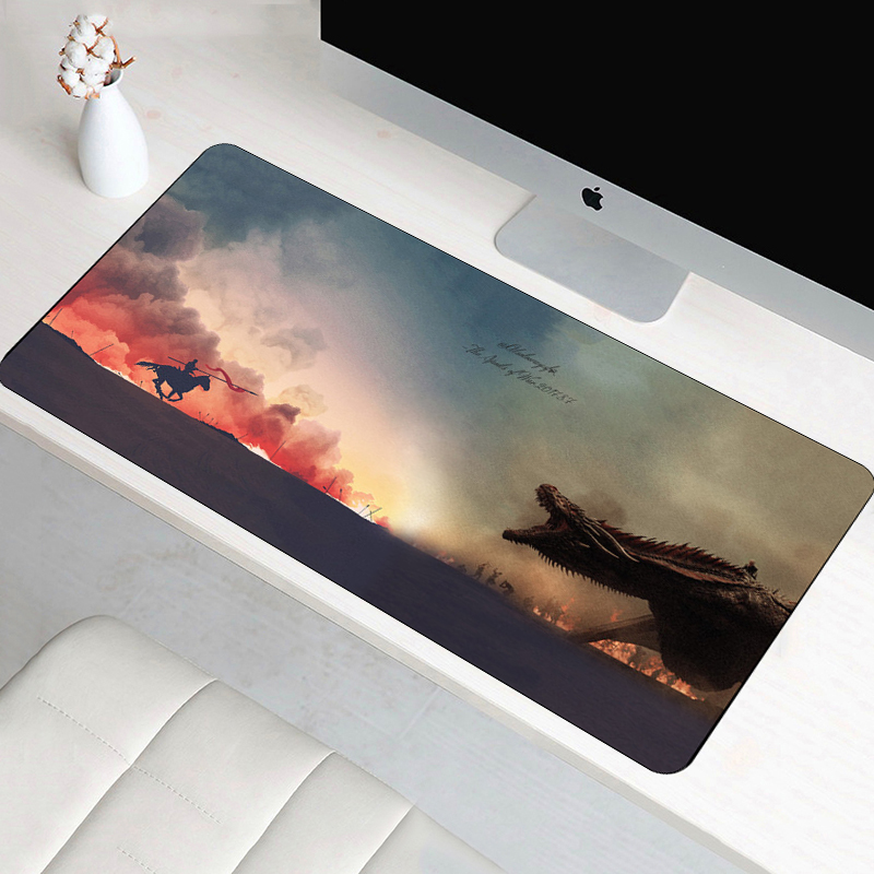 80x40cm Game Of Thrones Anti-slip Mouse pad Large Big Desk Cushion Table keyboard Mat Protector Mousepad game gamer gaming цена